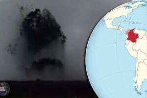 VIDEOS Volcán de lodo en Colombia entra en erupción y varias familias fueron evacuados