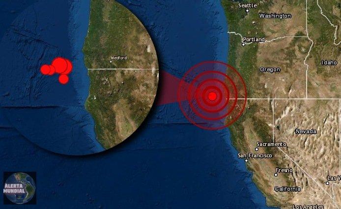 Dos potentes sismos gemelos azotan las costas de Oregon y California