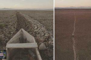 El lago Cuitzeo, el segundo lago más grande de México, es ahora un cementerio de barcos pesqueros abandonados.