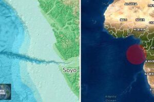 Enorme avalancha submarina de dos días envió lodo a 1.000 km al océano en África