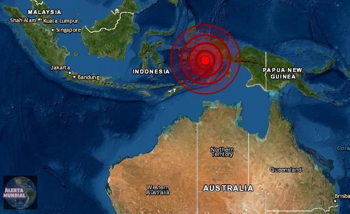Sismo de magnitud 6.1 sacude Indonesia