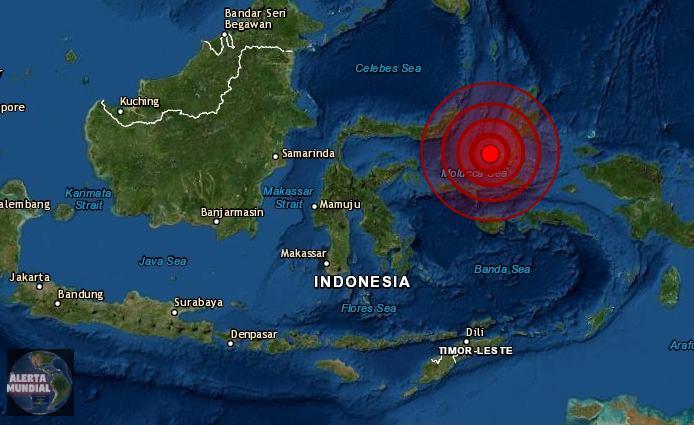 Sismo de magnitud 6.1 se registra en Sulawesi, Indonesia