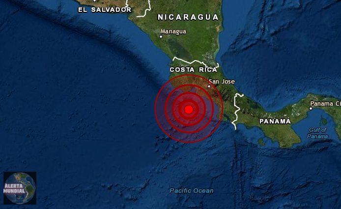 Un potente sismo sacude las costas de Costa Rica