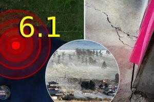 VIEOS Se desencadena un tsunami tras un fuerte sismo de magnitud 6.1 en la parte del este de Indonesia