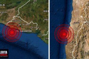 Dos fuertes sismos ruidosos golpea Chile y el Salvador en lapso de 6 minutos..