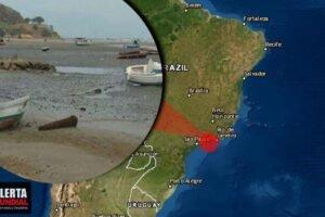 El mar se aleja en Caraguatatuba, Sao paulo, Brasil y temen un posible evento inesperado de la naturaleza