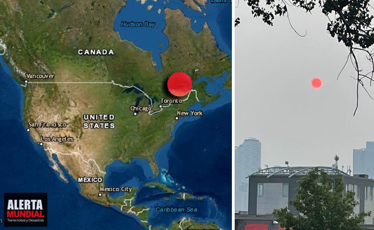El sol y la Luna se vuelven rojo como la sangre en Canadá (VIDEOS)