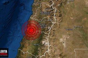 Fuerte sismo en la zona central de Chile ¿Lo sentiste