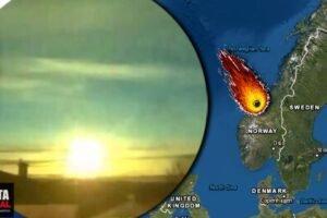 La noche de convierte en día tras caída de meteorito cerca de la capital de Noruega (VIDEOS)
