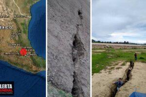 México sigue partiéndose Aparecen enormes grietas en San Salvador Atenco (FOTOS)