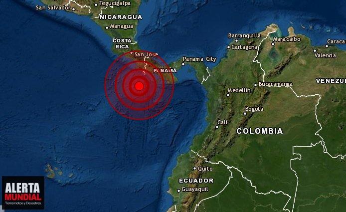 Terremoto sacude las costas de Panamá y Costa Rica
