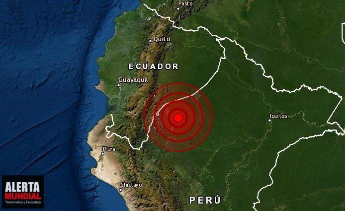 Un fuerte sismo sacude la frontera de Perú y Ecuador