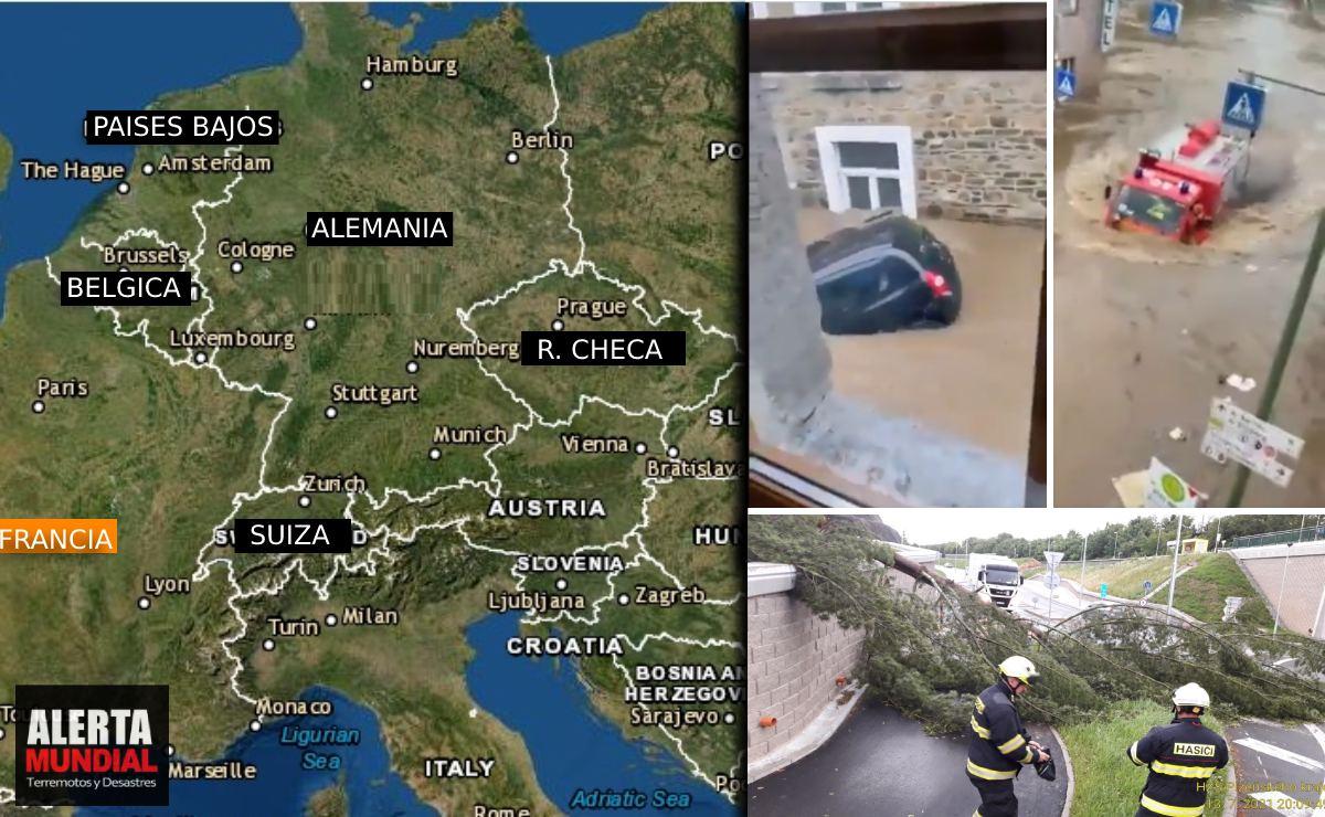 VIDEOS Las tormentas traen fuertes lluvias e inundaciones a Europa central